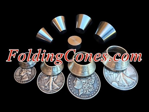 Coin Ring Tools: the NEWEST Way to FOLD a Coin Ring; Keeps 100% of the Inner Detail