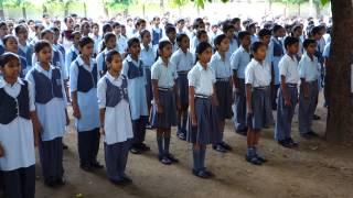 "Indian National Anthem ""Jana Gana Mana"" - Navyug School Peshwa Road Students at Morning Assembly"