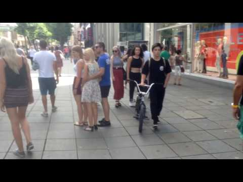 Walking Tour in Stuttgart City Center, Germany July 2016
