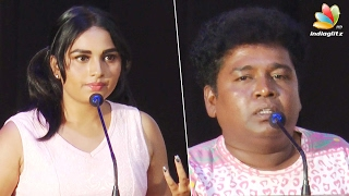 Couldn't take the torture, Srushti Dange cried | Mupparimanam Press Meet