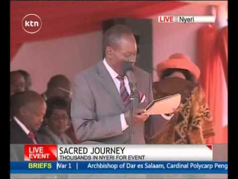 Nyeri Governor Nderitu Gachagua's speech during the beatification ceremony