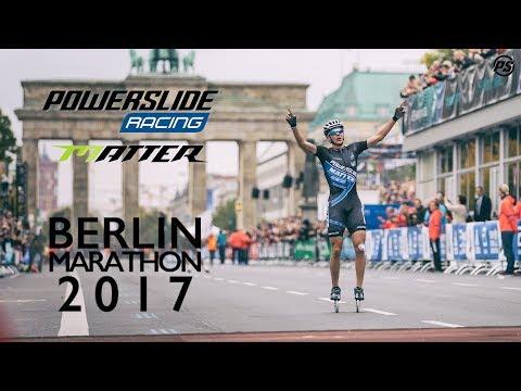 Bart Swings racing the Berlin Marathon 2017 - Powerslide Inline skates