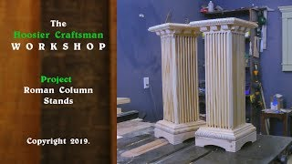 Need Some Plant Stands ?!   Column Stands / Woodworking Fun !