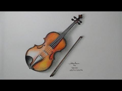 Desenho De Um Violino Em 3d 25 12 2017 Youtube