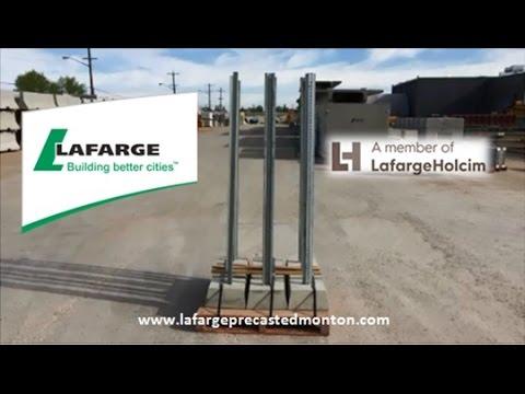 Concrete Sign Posts Edmonton Alberta Lafarge Precast