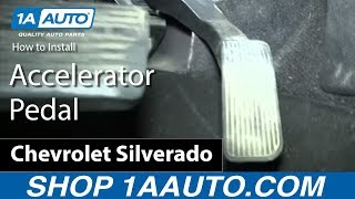 How To Remove Install Accelerator Pedal GM Truck and SUV Silverado Sierra Tahoe