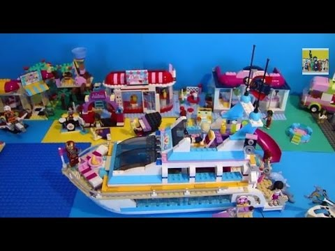lego friends jeux yacht 41015 youtube. Black Bedroom Furniture Sets. Home Design Ideas