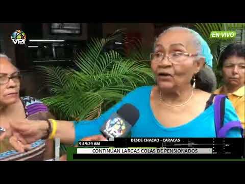 Venezuela - Extensas colas para cobrar pensión continúan en Caracas - VPItv