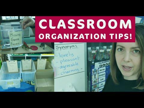 Classroom Organization Tips! |
