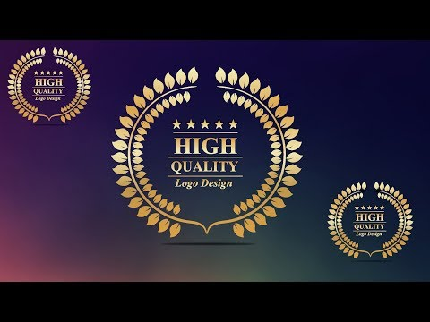 How to Create a Golden Laurel Wreath Logo Design in CorelDraw x7 By AS GRAPHICS