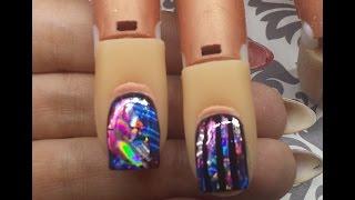 Nail Art Tutorial - Transfer Foil Over Gel Polish