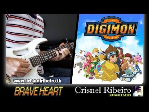 Digimon Adventure - Brave Heart (Guitar Cover by Guitarrista de Atena)