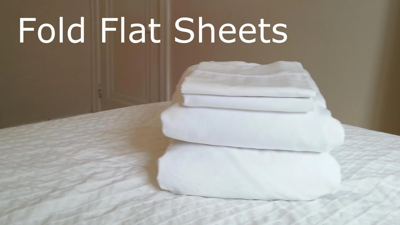 how to fold flat sheets by yourself
