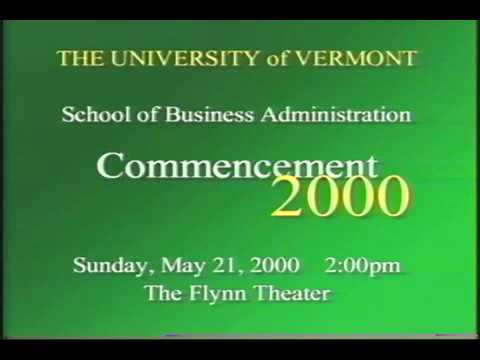 UVM School of Business Administration Commencement 2000
