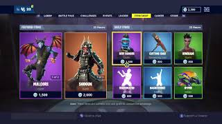 Fortnite Item Shop *NEW* MALCORE + SHOGUN SKIN SETS! (Fortnite Battle Royale - January 28th)