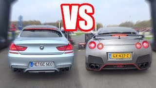 NISSAN GTR R35 vs BMW M6 vs E63 AMG - DRAG RACE