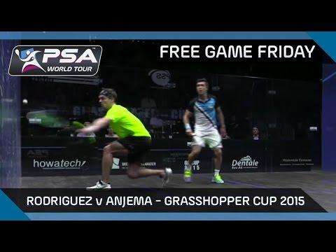 Squash: Free Game Friday - Rodriguez v Anjema - Grasshopper Cup 2015