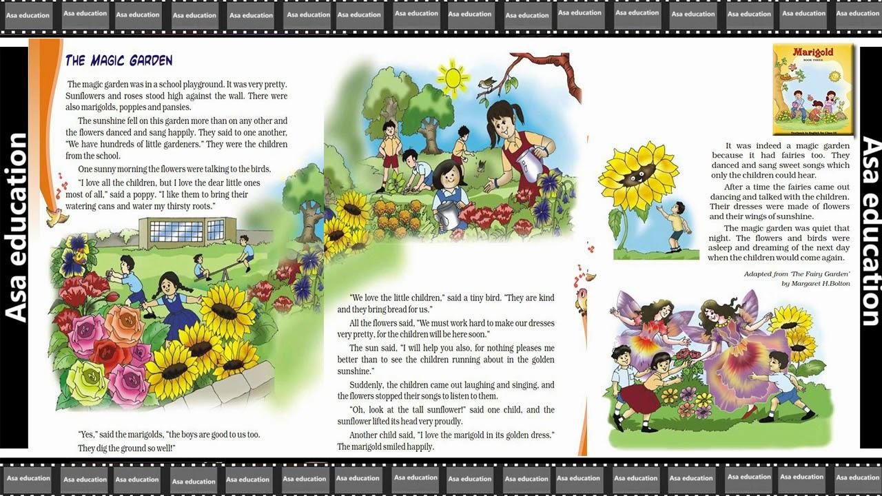 ch 1 the magic garden (english - marigold, grade 3, cbse) story in easy  hindi/english