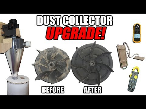 Dust Collector Impeller Upgrade - Testing Air flow, Suction, Noise Levels and Current Draw