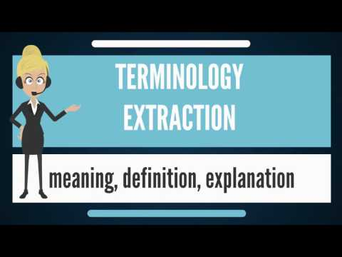 What is TERMINOLOGY EXTRACTION? What does TERMINOLOGY EXTRACTION mean?