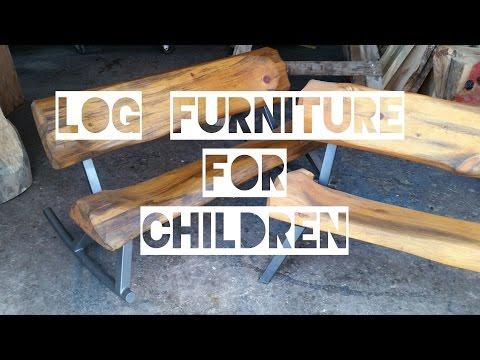 Log Furniture for Children