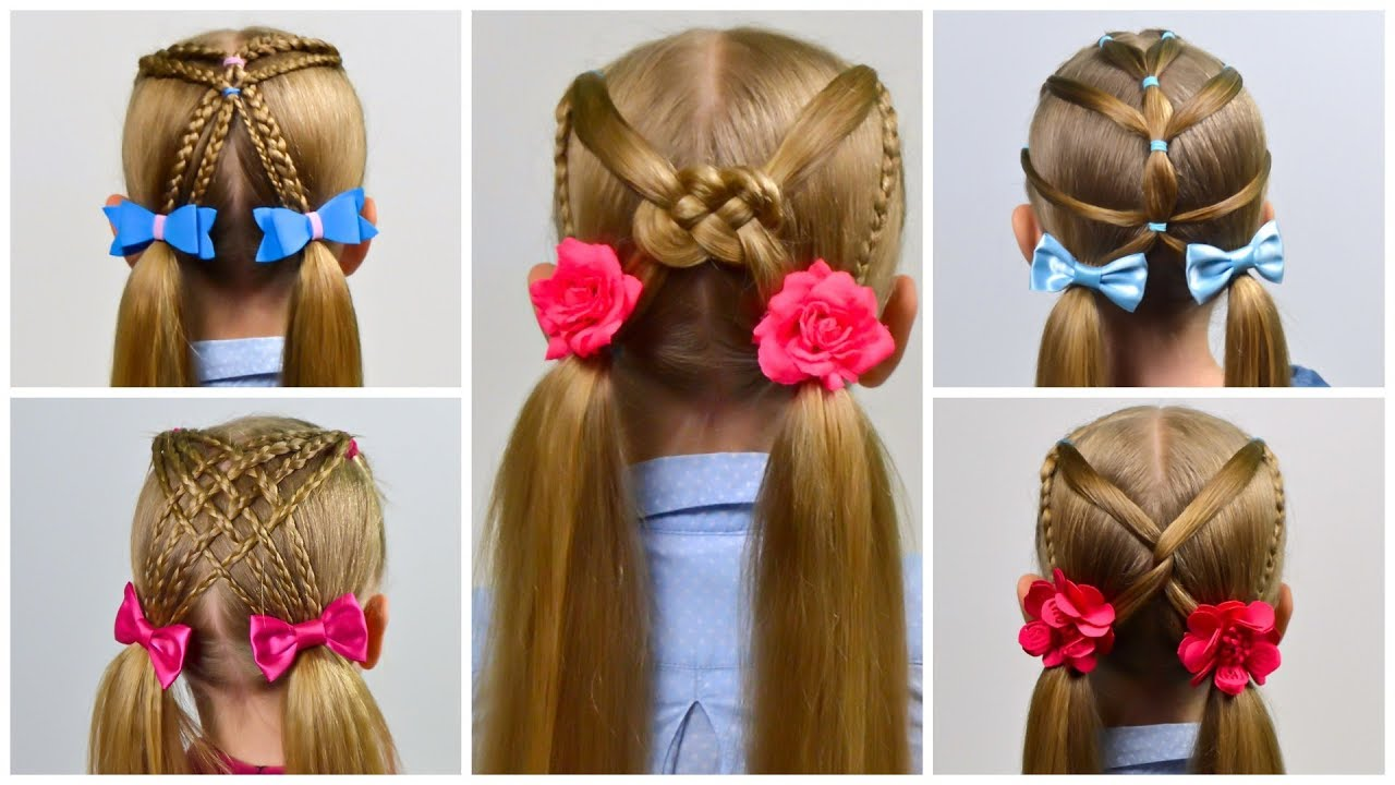 7 EASY HEATLESS BACK TO SCHOOL HAIRSTYLES (Little girls hairstyles #25) #LGH - YouTube