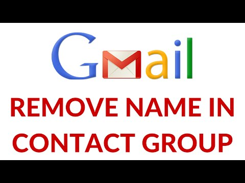 Remove Name in Contact Group
