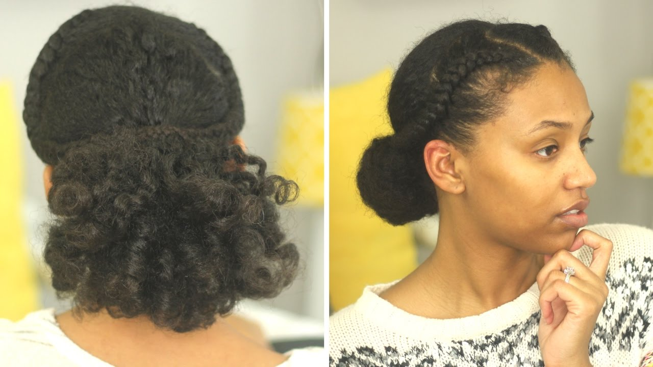 valentine's day date night natural hair style