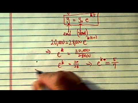 Graph Of Exponential Equation Depreciation Y Y0 E Kt Youtube I come to this solution, by using something like $\frac{dy}{dx} = p$. graph of exponential equation depreciation y y0 e kt