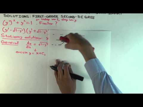 Factorization method for solving differential equations: partly stationary solutions