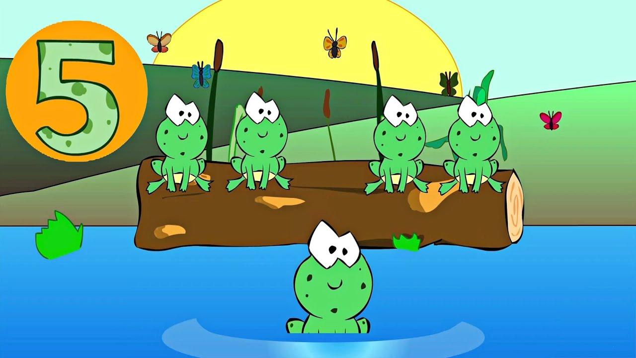 Five Little Speckled Frogs Nursery Rhyme