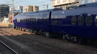 南海萩ノ茶屋駅 ラピート通過