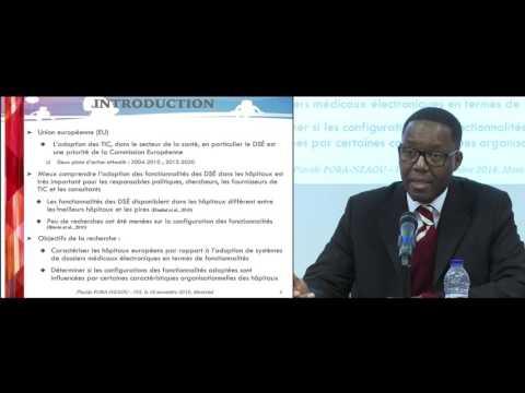 Conférence ISS: «Les dossiers de santé électronique : Adoption des dossiers de santé électroniques dans les hôpitaux européens»
