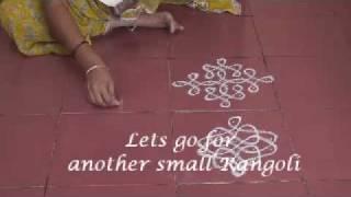 simple and small rangoli patterns using dots