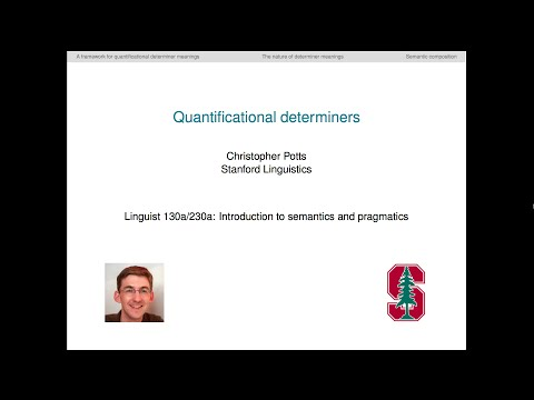 Linguist 130a - Quantificational determiners
