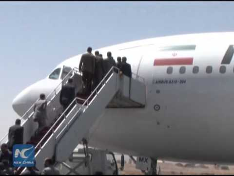 First Iranian flight has landed in the Yemeni capital of Sanaa