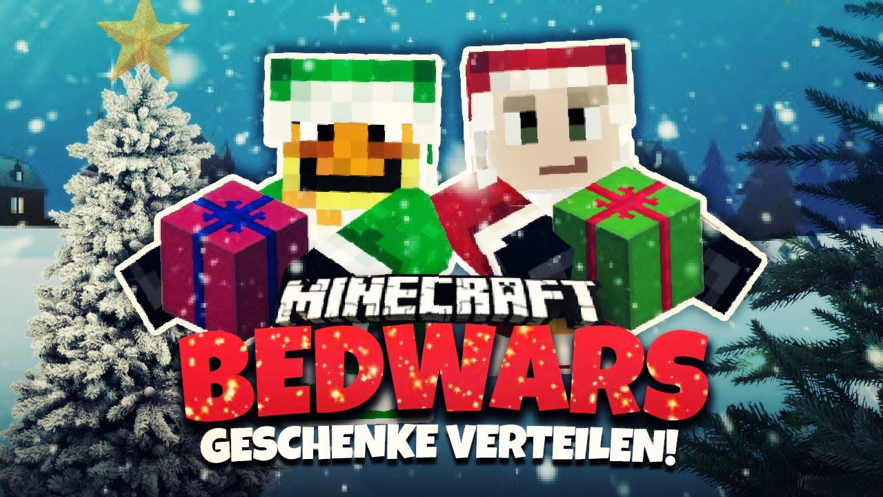 Die GeschenkeChallenge Minecraft Bedwars Herr Bergmann - Minecraft bedwars jetzt spielen