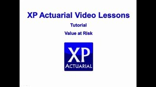 XP Actuarial Exam ERM Video Lessons - Value at Risk