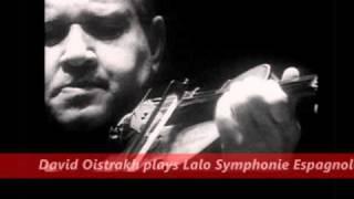 David Oistrakh plays Lalo Symphonie espagnole op.21 movement 1 (1955)  Jean Matinon
