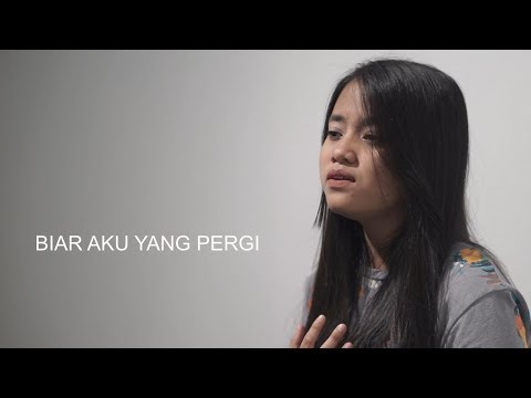 LIRIK Biar Aku Yang Pergi - Aldy Maldini (Cover) by Hanin Dhiya
