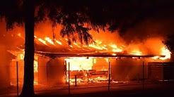 Großbrand eines Sägewerks in Bad Arolsen
