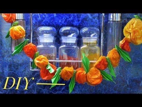 How To Make Paper Marigold Flowers In Easy Way - DIY Marigolds Tutorial