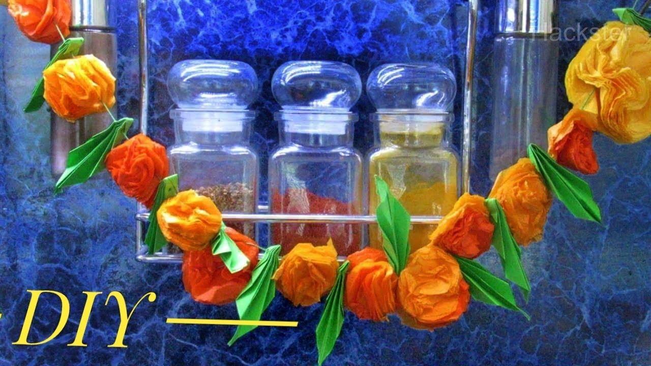 How To Make Paper Marigold Flowers In Easy Way Diy Marigolds Tutorial