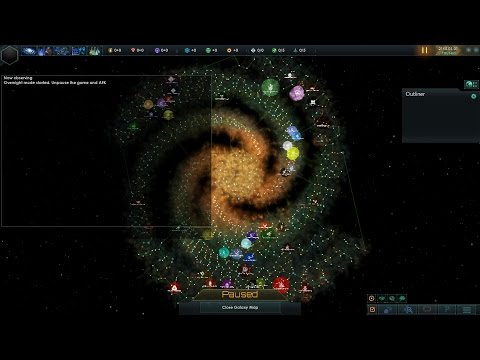 Stellaris 450 Year Timelapse: Star Trek New Horizons