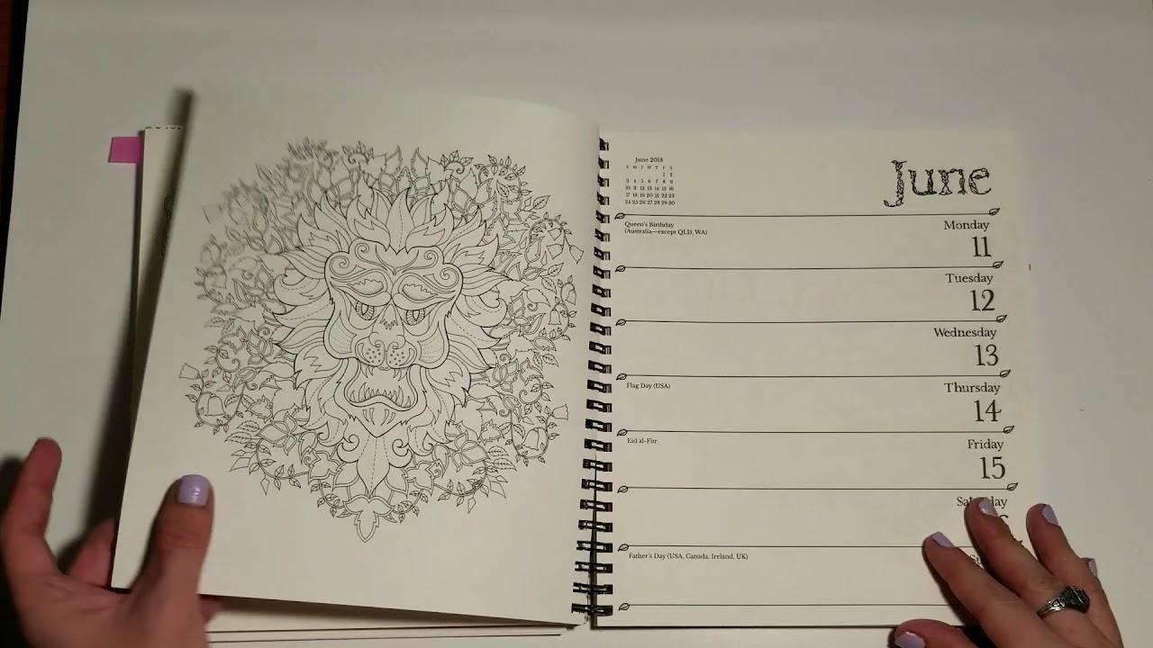 johanna basford weekly planner calendar flip