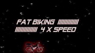 Fat Biking 4 X Speed on the Panhandle Trail, Jan. 2014