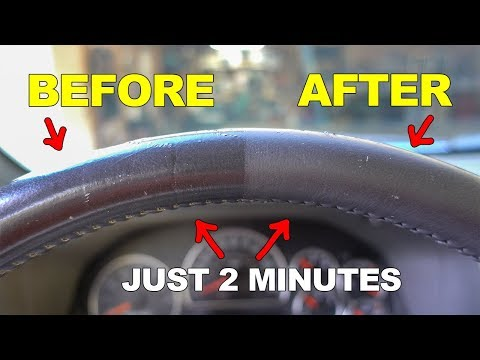 Make Your Shiny Leather Steering Wheel Like New Again!