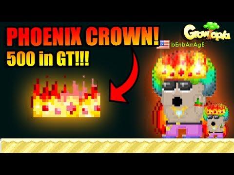 NEW PHOENIX CROWN! Only 500 in Growtopia! [SummerFest 2017]