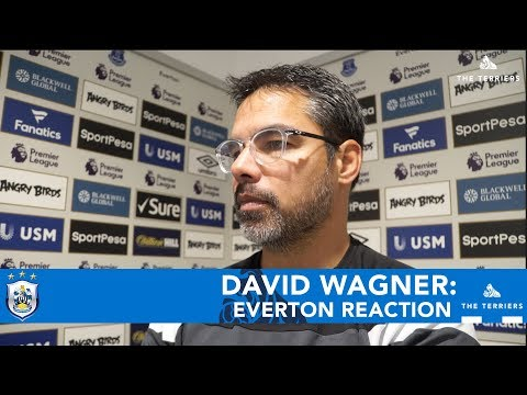 WATCH: David Wagner's post-match reaction after Everton defeat