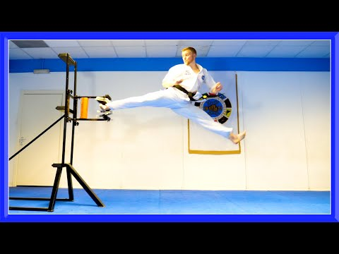 Taekwondo Breaking Sampler | Kicking & Hand Techniques | Ginger Ninja Trickster